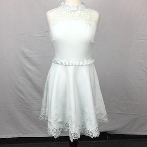 Ted Baker Zaffron Mint Embroidered Skater Dress